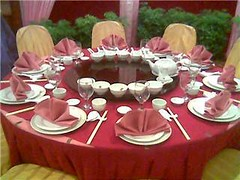 Wedding dinner display