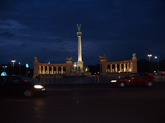 Budapest, Heroes Square by night