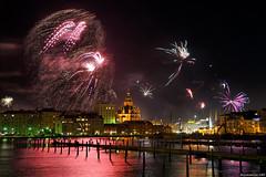 New Year's fireworks in Helsinki