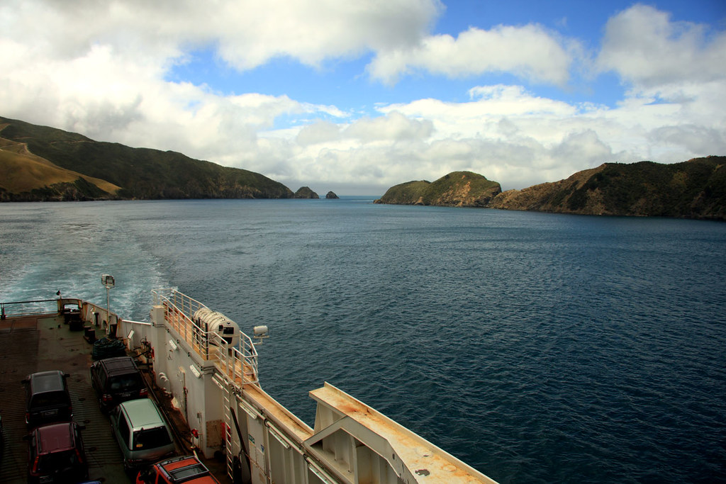 Crossing from Wellington to Picton, New Zealand