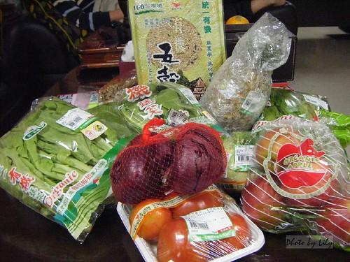統一有機主廚套餐的蔬果類