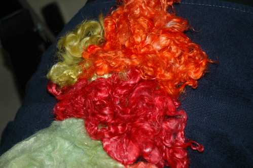 kool aid colored mohair locks