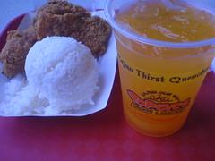paket nasi + 2 ayam + orange juice
