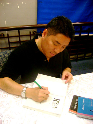 signing some of my books