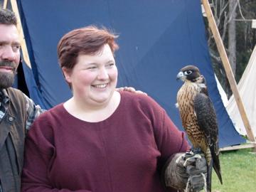 Peregrine falcon ON MY WRIST!!!
