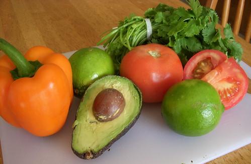 Guacamole vegetables