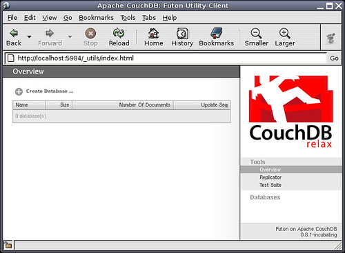 Installed CouchDB