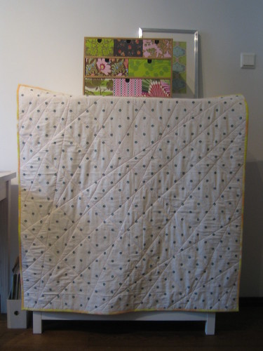 spring baby quilt back