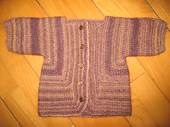 Baby surprise jacket in Rowan Tapestry