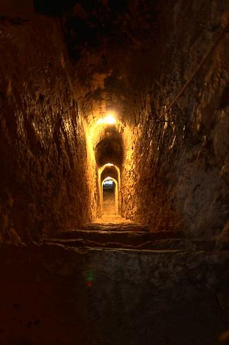 Pasadizo en el interior del Castillo de Bran