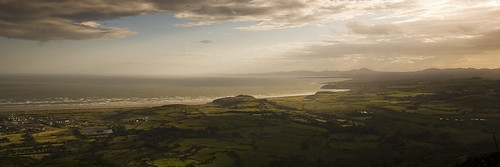 The view from Moel-y-Gest, the hill above Porthmadog.
