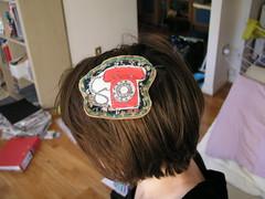 telephone hair clip