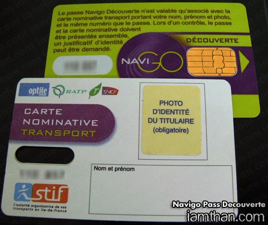 Passe Navigo Decouverte ตั๋วแบบไม่ลงทะเบียน
