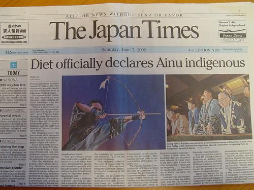 Ainu'ak azkenean bizirik