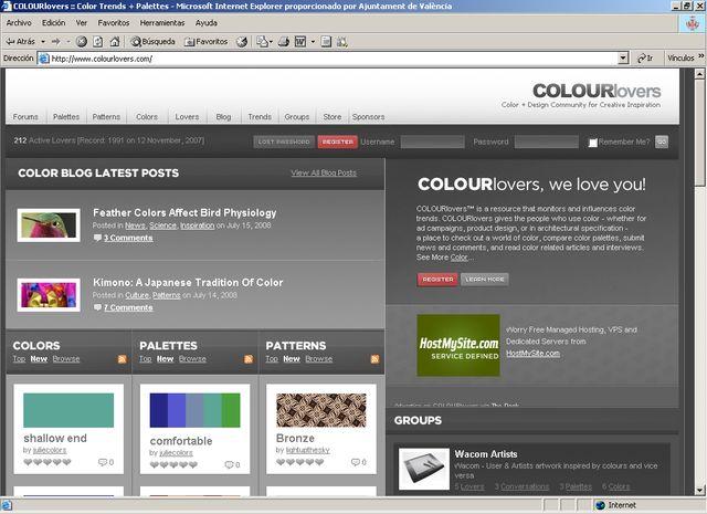 tendencias y paletas de colores