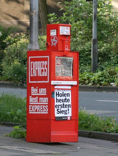 Express-Schlagzeile am 24.08.2008