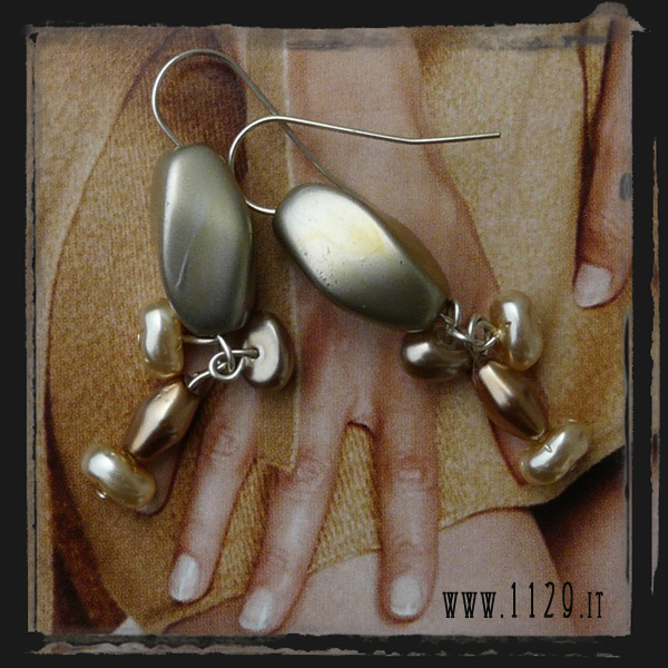 Orecchini beige - Light brown earrings LEBEPER
