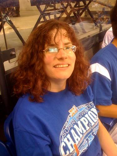 Stephanie at game