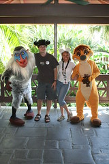 Meeting Rafiki and Timon