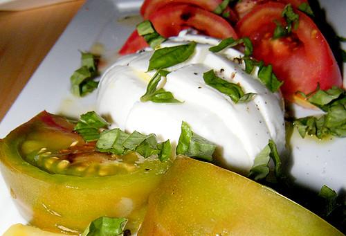 Heirloom Tomatoes, Burrata at Laurel Tavern by MyLastBite.com