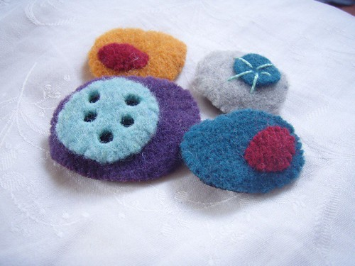 pebble brooches