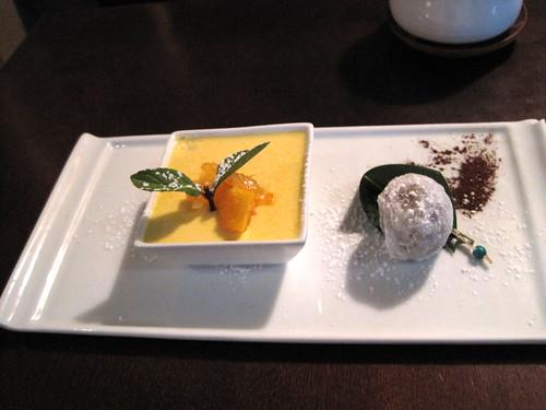 mango + chocolate mochi