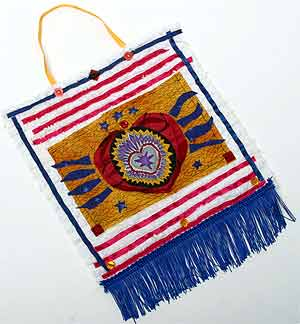 4th of July Craft: Patriotic Fabric Collage