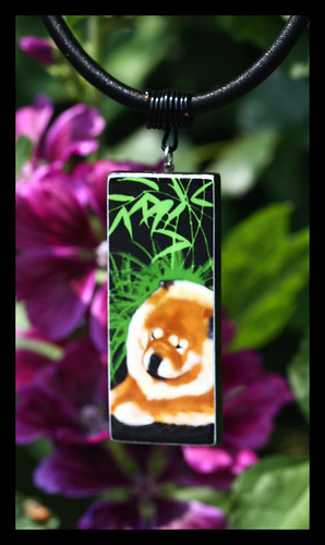 BAMBOO BLISS..one of a kind pendant by Sandra Miller