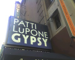 A marquee featuring Patti LuPone.  Photo by Chris Freeland via Flickr