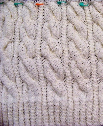 closeup of cable pattern