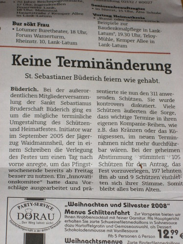 Slow news day in Meerbusch Büderich