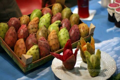 Cactus Pears / Fichi d'India at Salone del Gusto in Turin