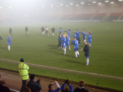 Cove players applaud their fans