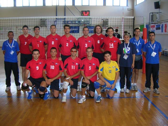 La foto di squadra Iusm prima della partita con l'Univ. di Zagabria