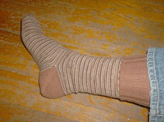 Simple S'mores Sock #1