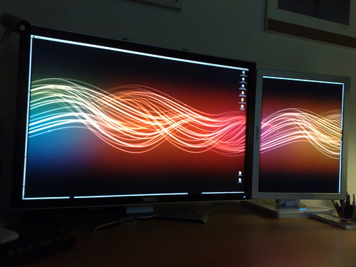 Flow Wallpaper on my screens