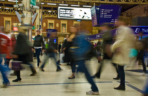 Victoria Station, London, England, 30 Sept. 2008