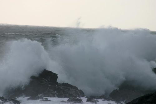 wave against rock