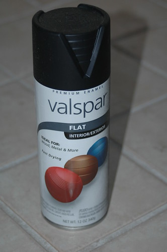 Valspar flat black spraypaint was used on the cooler.  Black colors hold heat and thus make the system more efficient.