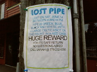 as seen in lynn valley - lost pipe