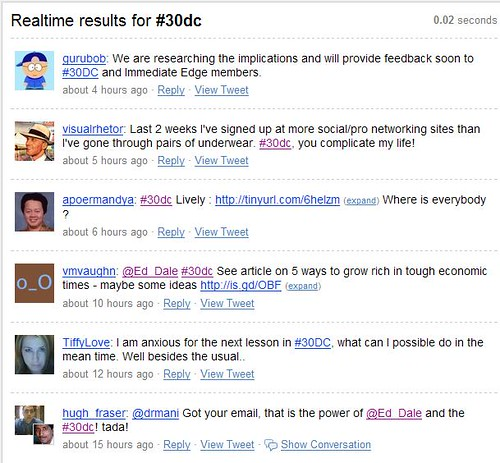 Google Reader - Summize Search #30dc