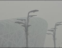 Fouling our nest - 'bird's nest' stadium, Beijing by Sibad.