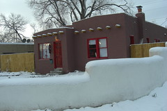 My house in snow
