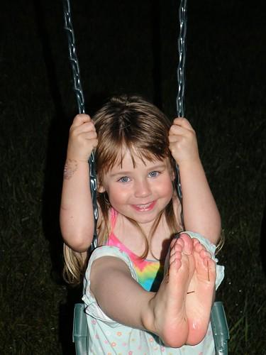 Sydney on her Swing