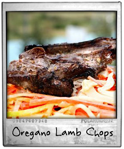 Oregano Lamb Chops and Carrot Slaw