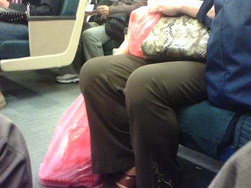 Pink plastic bags