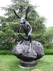 Thinker on a Rock, 1997 cast bronze by Barry F...