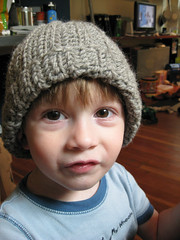 ribbed hat: finished!