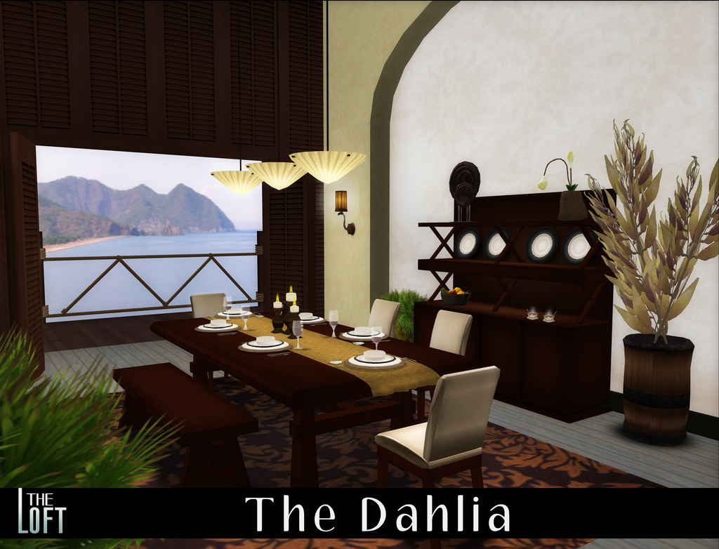 The Dahlia Dining Room in Cherry