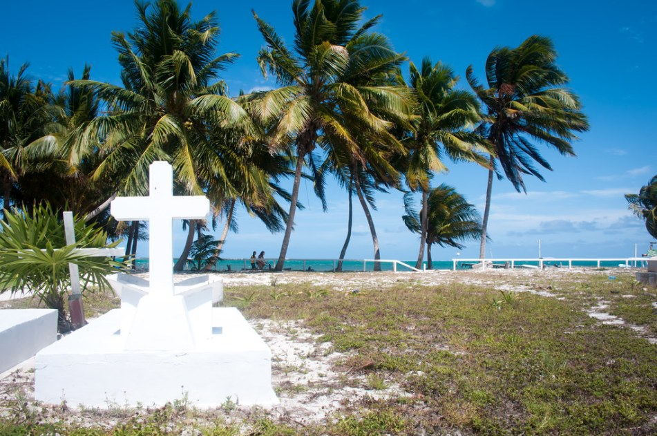 Cemetary in Caye Caulker, Belize